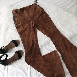 Persuade Me Brown Flared Pants// Volcom Stone Row